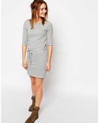 Sessun Textured Jersey Dress With Tie Waist - Lyst