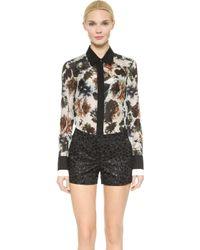 Vera Wang Collection - Watercolor Rose Shirt - Gray - Lyst