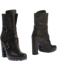 Jil Sander Black Ankle Boots - Lyst
