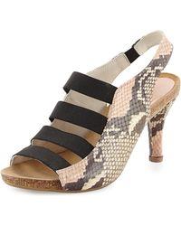Anyi Lu Brigitte Stretch-Strap Cork Sandal - Lyst