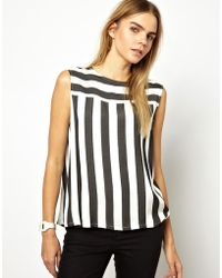 Won Hundred Tally Shell Top in Stripe with Open Back - Lyst