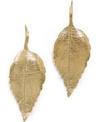 Aurelie Bidermann Central Park Earrings Gold - Lyst