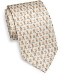 Ferragamo Frog-Print Silk Tie - Lyst