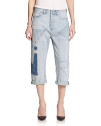 Marc By Marc Jacobs Cropped Patchwork Jeans - Lyst