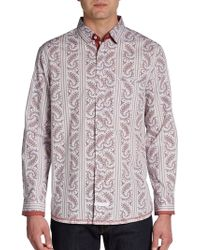 English Laundry Paisley Cotton Sportshirt - Lyst