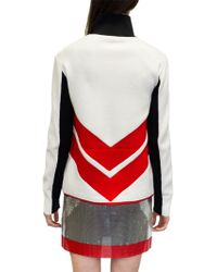 Paco Rabanne | White And Red Cardigan | Lyst