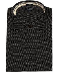 Armani Jeans Shirt France Collar Micro Pois - Lyst