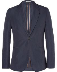 Paul Smith Slim-fit Striped Cotton-blend Blazer - Lyst
