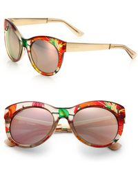 Gucci Chunky 53Mm Round Sunglasses orange - Lyst
