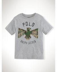 Ralph Lauren Camo Eagle–Appliqué Cotton Tee - Lyst
