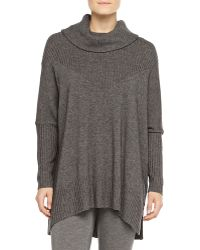 Donna Karan New York Cashmere-Blend Long-Sleeve Poncho - Lyst