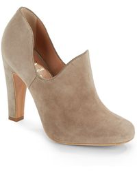 Vince Camuto Signature High-Vamp Suede Pumps - Lyst