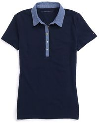 Tommy Hilfiger Chambray Dot Collar Polo - Lyst