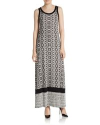 Karen Kane Geometric Printed Maxi Dress - Lyst