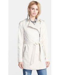 Sam Edelman Women'S Asymmetrical Zip Cotton Blend Trench Coat - Lyst