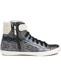 Carvela Kurt Geiger Jacob Snake Print High Top Sneaker - Lyst