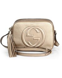 Gucci Soho Metallic Leather Disco Bag - Lyst
