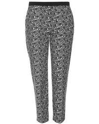 Topshop Monochrome Paisley Print Cigarette Trousers - Lyst