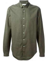 Mr Start Olive Mini Collar Shirt - Lyst