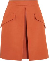 McQ by Alexander McQueen Cotton Blend Mini Skirt - Lyst