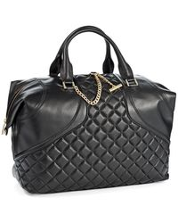 Calvin Klein Leather Oversized Tote - Lyst
