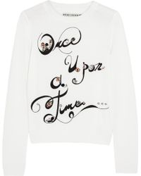 Alice + Olivia Once Upon A Time Embellished Wool Sweater - Lyst