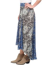 Free People Printed Rayon Gauze Show You Off Skirt - Lyst