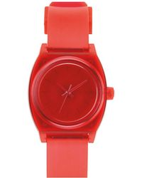 Nixon The Small Time Teller P Translucent Coral Watch - Lyst