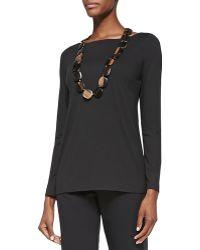 Eileen Fisher Cozy Long Slim Jersey Top - Lyst