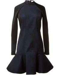 Stella McCartney Black and Blue Print Dress - Lyst
