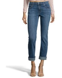 James Jeans Crush Blue Denim 'Buddy' Boyfriend Jean - Lyst