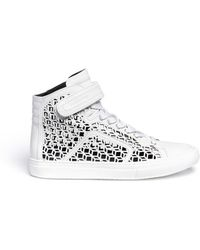 Pierre Hardy Laser Cut Leather Sneakers - Lyst