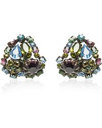 Carole Tanenbaum - Schreiner Green Purple and Blue Earrings - Lyst