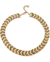 House Of Harlow Sidewinding Collar Necklace Gold - Lyst