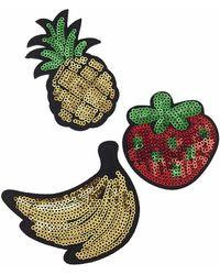 Topshop | Sequin Fruit Badge Pack | Lyst