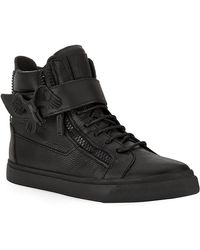 Giuseppe Zanotti Eagle Mono High Top Sneaker - Lyst