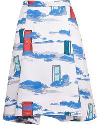 Osman Yousefzada Pleated Door Print Skirt - Lyst