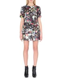 McQ by Alexander McQueen Satin Floral Dress - For Women - Lyst