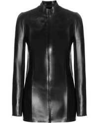 Acne Studios Lanza Leather Jacket - Lyst