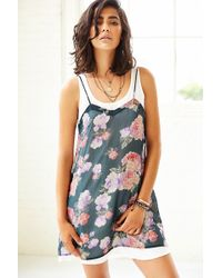 Mink Pink Light Floral Breeze Tank Dress - Lyst