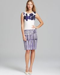 Max Mara Dress Zinnia Batikprint Sleeveless Jersey - Lyst