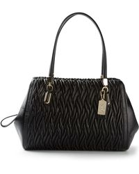 Coach Textured Stitched Tote - Lyst