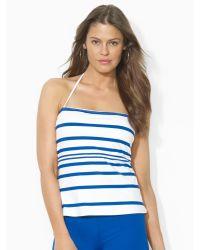 Ralph Lauren Blue Striped Bandini - Lyst