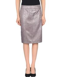 Armani Knee Length Skirt silver - Lyst