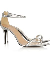 J.Crew Mirrored-Leather Sandals - Lyst