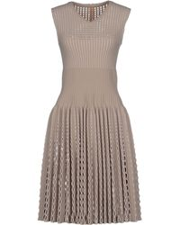 Alaïa Short Dress gray - Lyst