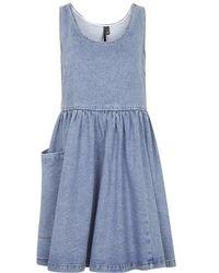 Topshop Mid-Stone Denim Dress By Boutique blue - Lyst