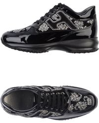 Hogan By Karl Lagerfeld Black Lowtops Trainers - Lyst