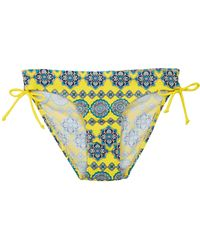 Oasis Moroccan Tile Ruched Side Pant - Lyst
