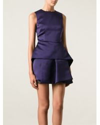 McQ by Alexander McQueen Purple Peplum Dress - Lyst